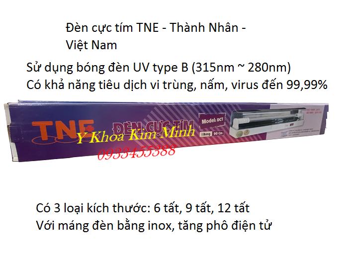 Bộ bóng máng đèn cực tím UV TNE sản xuất tại Việt Nam - Y Khoa Kim Minh