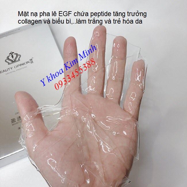 Mặt nạ pha lê tế bào gốc EGF kích thích tăng trưởng collagen làm trẻ hóa và trắng da - Y khoa Kim Minh 0933455388