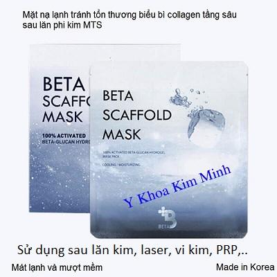 Mặt nạ dưỡng da sau PRP, Crafold Mask làm dịu da, ngăn tổn thương sau điều trị - Y khoa Kim Minh