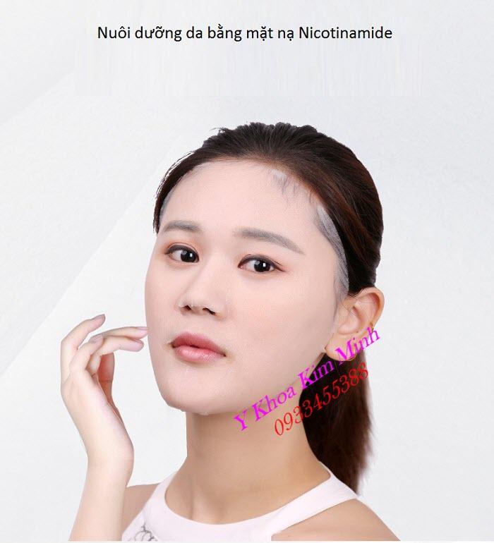 Mặt nạ cấp nước dưỡng ẩm, dưỡng trắng da, giảm thâm nám dùng cho da thường - Y Khoa Kim Minh