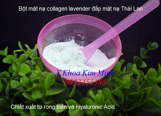 Bột mặt nạ collagen lavender Thai Lan 1000g đắp mặt nạ dưỡng da chống lão hóa - Y Khoa Kim Minh
