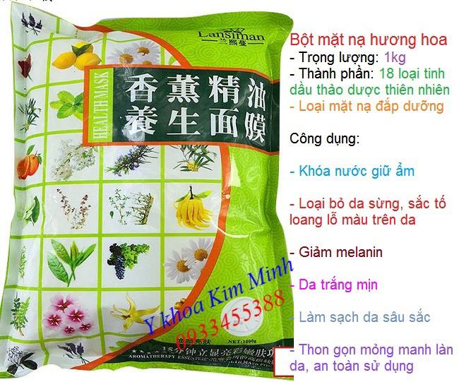 Bột đắp mặt nạ hương thơm thảo dược giúp trắng mịn, thon gọn trẻ hóa da trọng lượng 1000g - Y khoa Kim Minh
