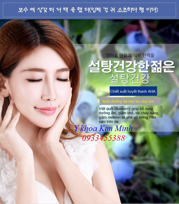 Mat na  Blueberry Korea dieu tri da kho nam sang giup trang sang da - Y khoa Kim Minh 0933455388