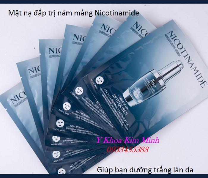 Mặt nạ dưỡng trắng, trị nám, ngăn da tăng sắc tố Nicotinamide - Y Khoa Kim Minh