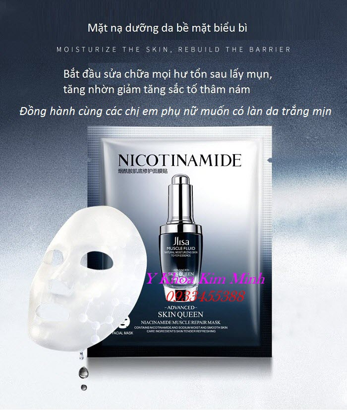 Mặt nạ dưỡng thâm trị nám Nicotinamide bán giá sỉ tại Tp Hồ Chí Minh - Y Khoa Kim Minh