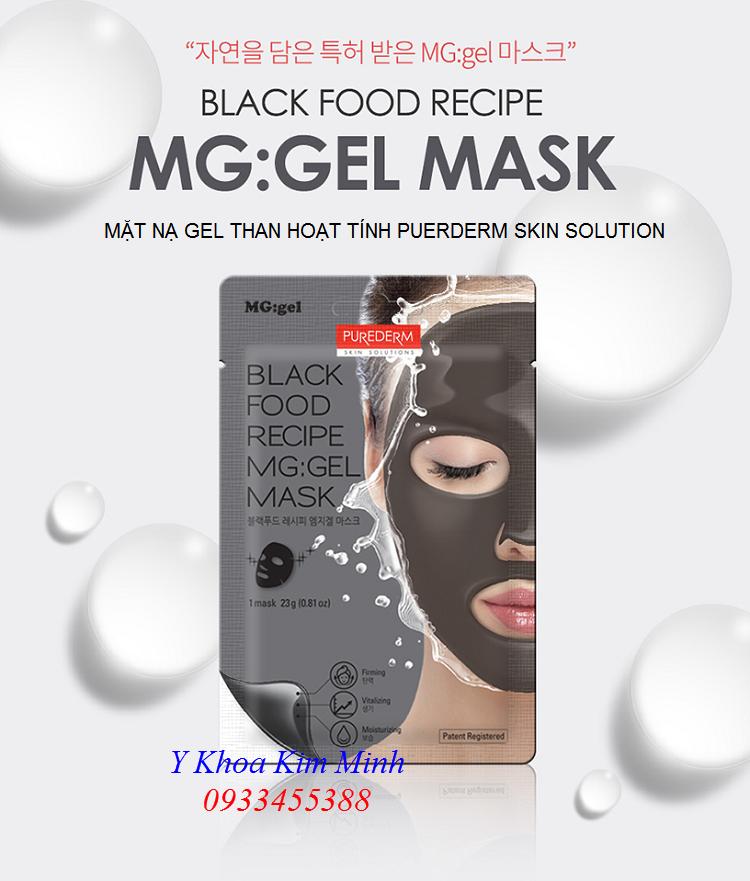 Mặt nạ gel than hoạt tính Purederm Skin Solution Korea bán tại Tp Ho Chi Minh - Y Khoa Kiim Minh 0933455388