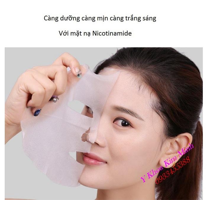 Sử dụng mặt nạ Niconitamide giúp dưỡng da trắng mịn và ngăn nám thâm xuất hiện - Y Khoa Kim Minh