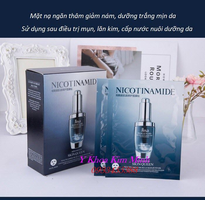 Mặt nạ dưỡng da sau lăn kim, điều trị mụn ngăn ngừa vết thâm và giảm vết thương dịu da chứa Niacinamide Vitamin B3 HA - Y Khoa Kim Minh