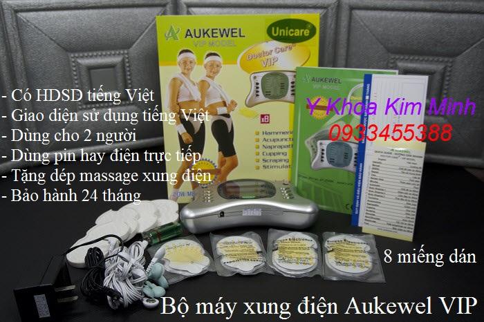 Hướng dẫn cách dùng máy massage xung điện Aukewel VIP 8 miếng dán - Y Khoa Kim Minh