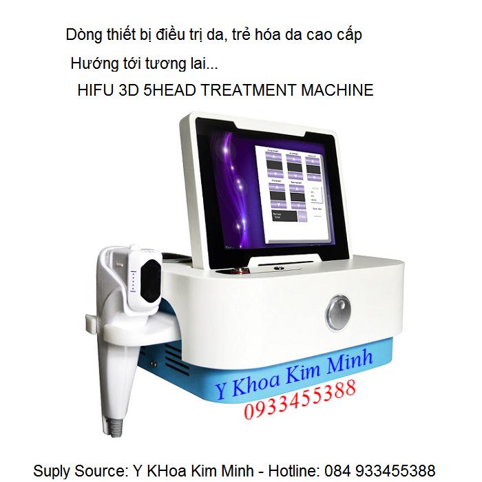Máy HIFU 3D cao cấp dùng 5 đầu điều trị chăm sóc da - Y Khoa Kim Minh