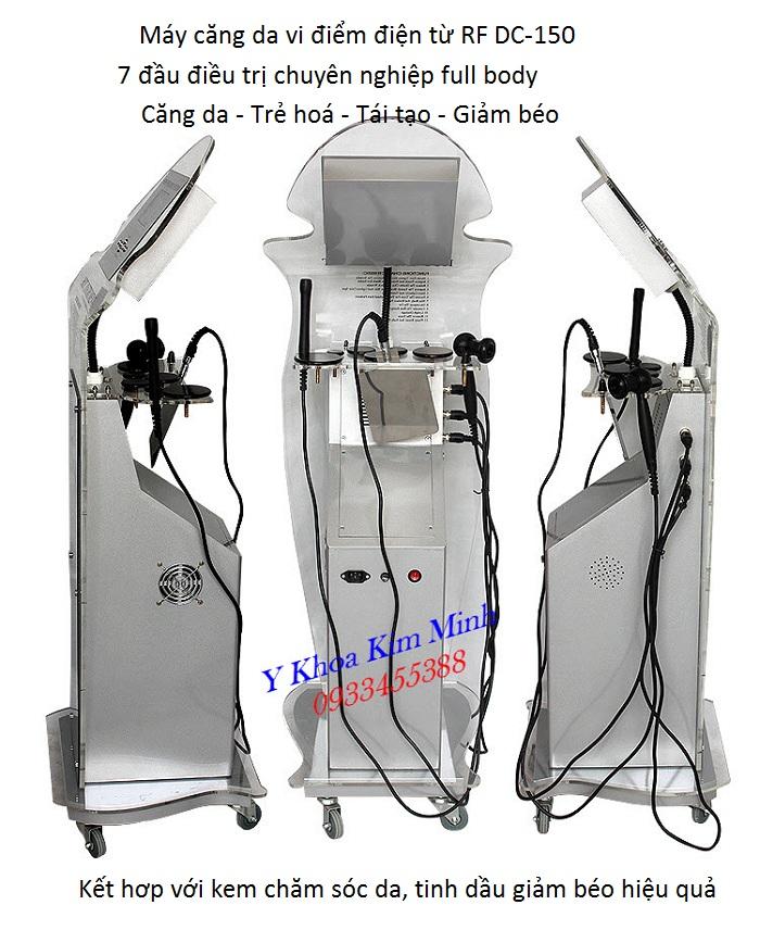 Máy chuyên căng da mặt công nghệ vi điểm điện từ RF DC-150 - Y khoa Kim Minh