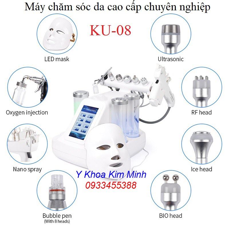 Máy chăm sóc da cao cấp chuyên nghiệp 8 chức năng chuyên dùng cho spa thẩm mỹ viện - Y khoa Kim Minh