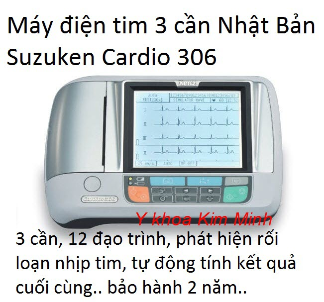 Máy điện tâm đồ Suzuken Cardio 306 bán tại Tp.HCM - Y Khoa Kim Minh