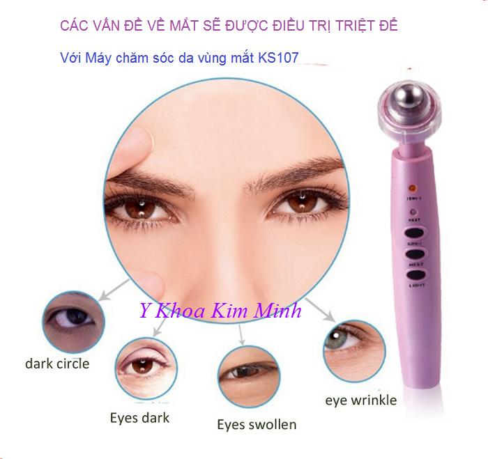 Máy điều trị da thâm quầng mắt mini cầm tay KS107 - Y Khoa Kim Minh