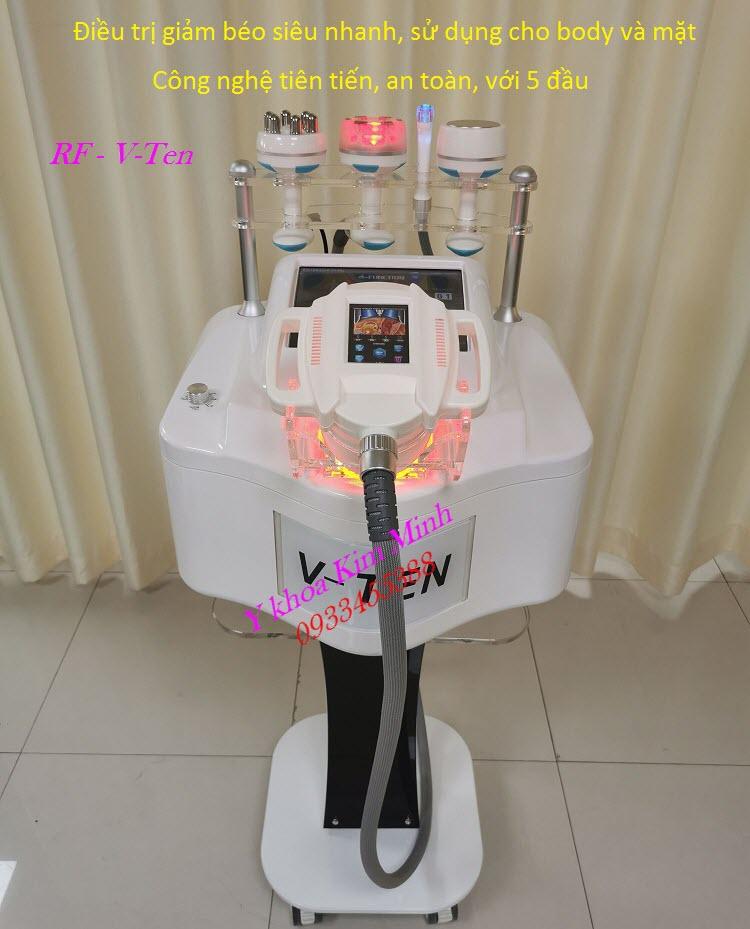 Thiết bị điều trị giảm béo cấp tốc siêu nhanh, loại bỏ mỡ thừa bằng công nghệ RF 40K V-Ten - Y khoa Kim Minh