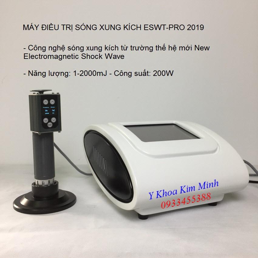 Máy điều trị sóng xung kích shock wave ESWT-Pro - Y Khoa Kim Minh 0933455388