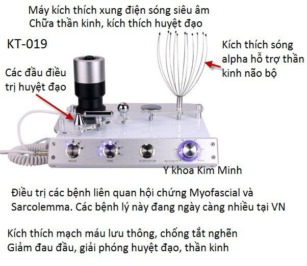 Máy điều trị bệnh liên quan đến thần kinh, não bộ con người bằng sóng alpha sonic KT-019 - Y khoa Kim Minh