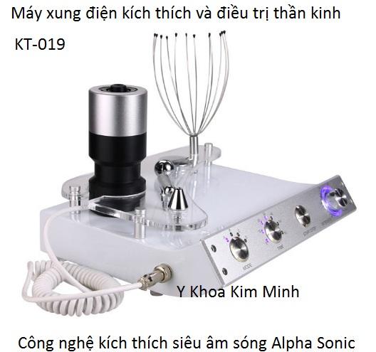 Máy xung điện kích thích não và điều trị giảm đau thần kinh sóng alpha sonic KT-019 - Y khoa Kim Minh