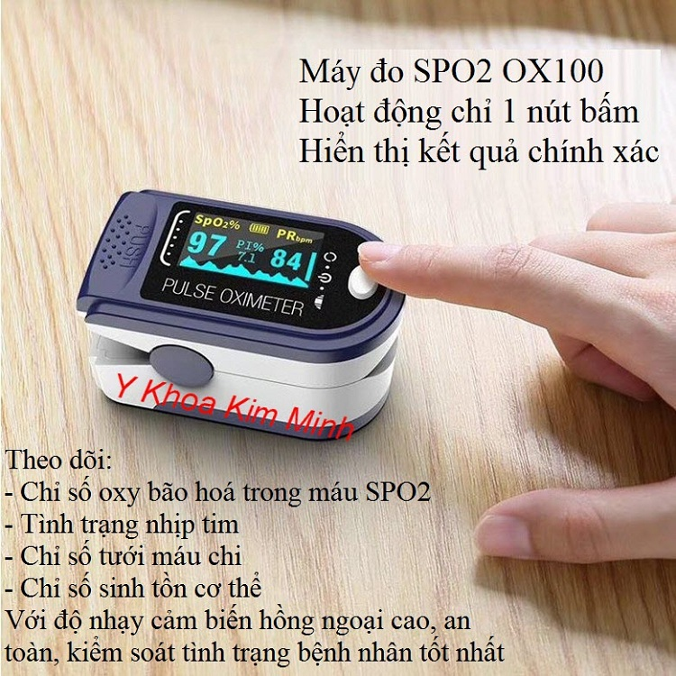 Máy đo SPO2 trong máu mã sản phẩm OX100
