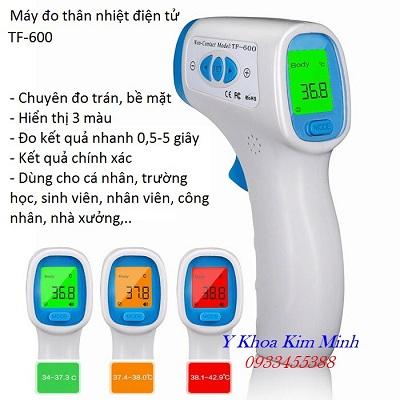 Máy đo nhiệt độ trán TF-600 cho kết quả chính xác, đo nhanh, đo 1 triệu - 30 triệu lần, dùng cho công ty - Y khoa Kim Minh