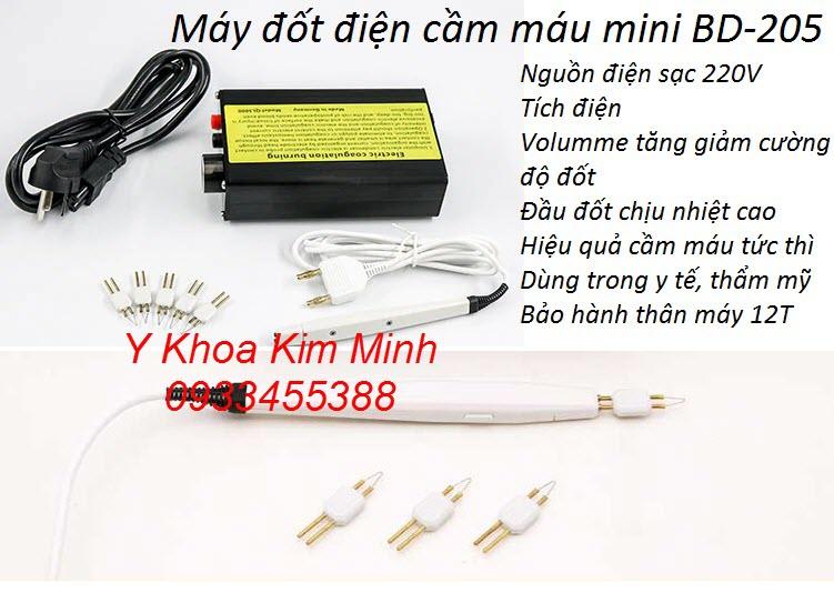 Máy đốt điện cầm máu BD-205 mini cầm tay dùng trong phẫu thuật thẩm mỹ và y tế
