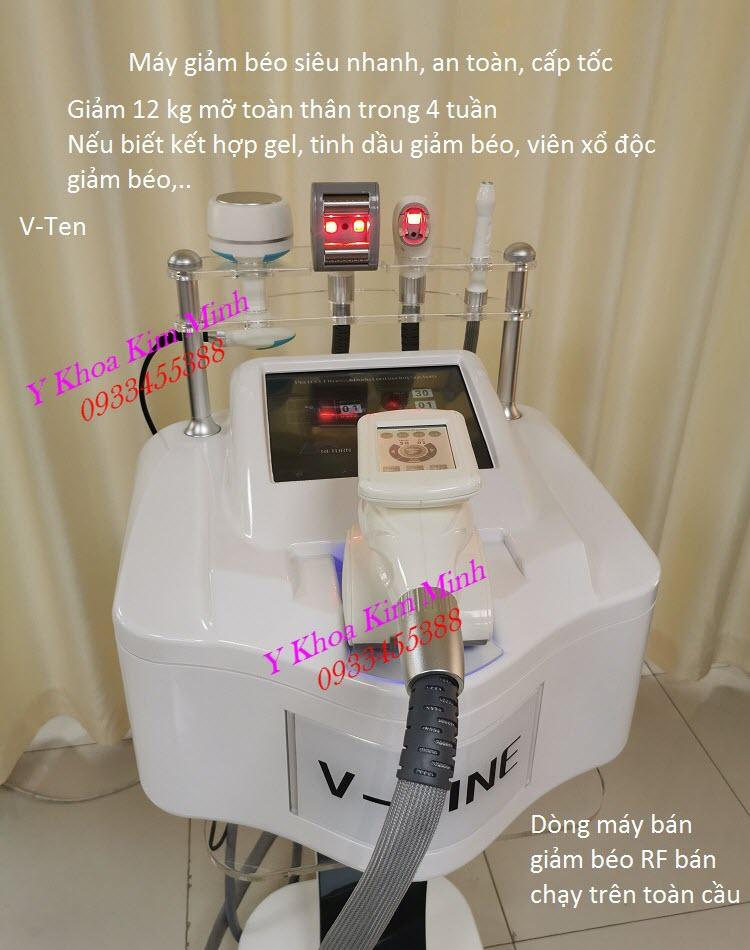 Máy giảm béo RF V-Ten 5 đâu điều trị giảm mỡ ngay 2-3cm lần đầu sử dụng - Y Khoa Kim Minh
