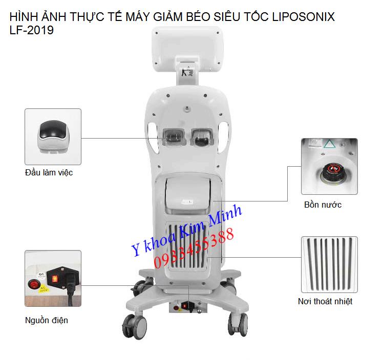 Hình ảnh thực tế mặt sau máy giảm béo cấp tốc LF-2019 Liposnix Hifu - Y Khoa Kim Minh