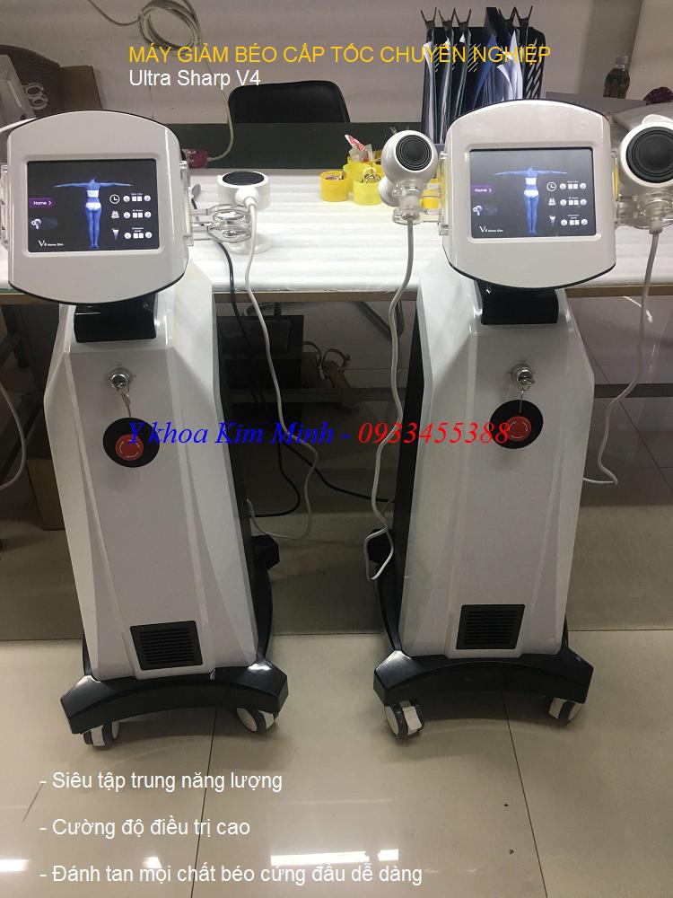 Máy giảm béo cấp tốc chuyên nghiệp Ultra Sharp V4 - Y Khoa Kim Minh 0933455388