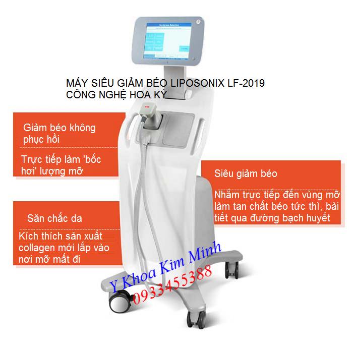Máy siêu giảm béo công nghệ Hoa Kỳ Liposonix LF-2019 - Y khoa Kim Minh 0933455388