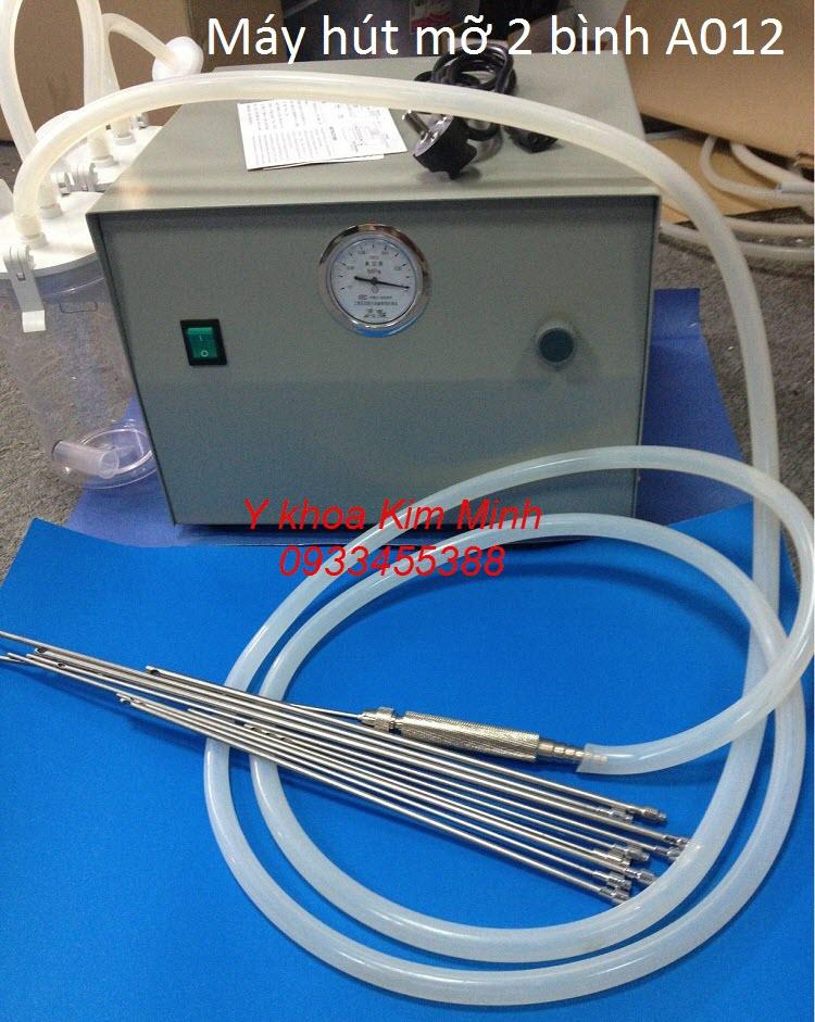 Máy hút mỡ phẫu thuật thẩm mỹ giảm béo 2 bình tự động A012 - Y khoa Kim Minh