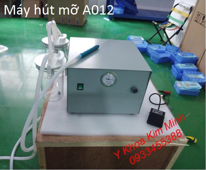 Máy hút mỡ 2 bình dùng trong phẫu thuật thẩm mỹ giảm béo body A012 - Y khoa Kim Minh