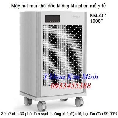 Máy hút mùi khử độc làm sạch không khí 1000F KM-A01 - Y khoa Kim Minh 0933455388