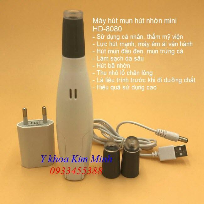 Máy hút mụn mini cá nhân HD-8080 Hàn Quốc - Y khoa Kim Minh 0933455388