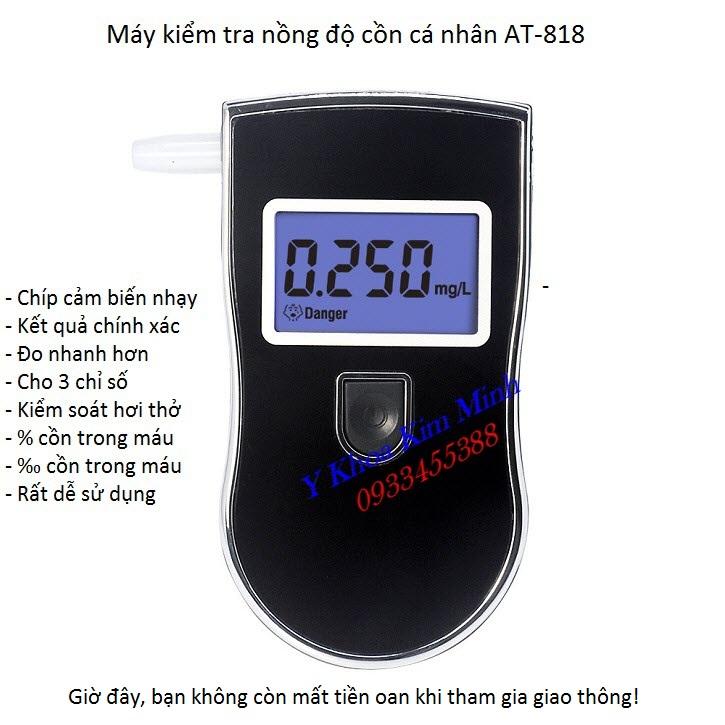 Máy kiểm tra nồng độ cồn hơi thở, nồng độ cồn trong máu sử dụng cá nhân bán tại Tp Hồ Chí Minh - Y Khoa Kim Minh