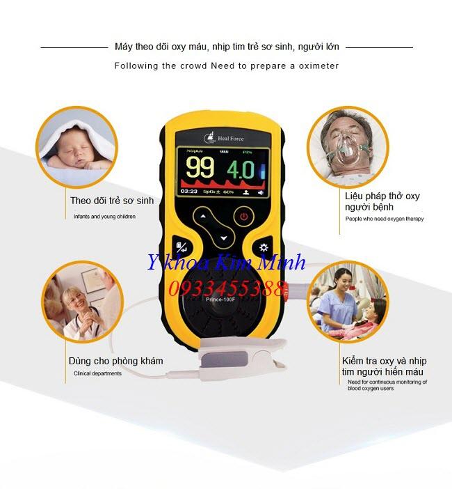 SPO2 oximeter Prince-100F máy kiểm tra nồng độ oxy trong máu trẻ sơ sinh - Y Khoa Kim Minh 0933455388