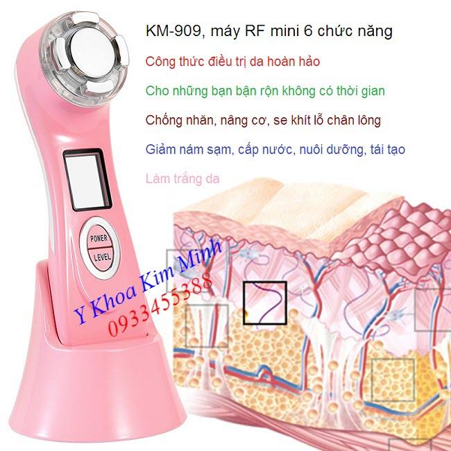Máy làm mịn trắng sáng da RF mini KM-909 - Y Khoa Kim Minh 0933455388