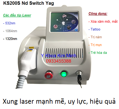 Máy laser sieu sung KS-200S chuyen chữa nám trẻ hoá da - Y khoa Kim Minh