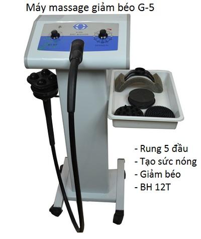 Máy masasge bụng rung 5 đầu G-5, máy massage rung Vibrating - Y Khoa Kim Minh