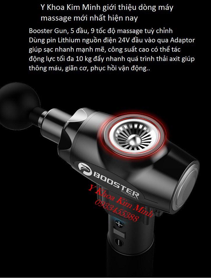 Máy massage công suất mạnh 9 cấp độ tích điện pin sạc Booster Gun - Y Khoa Kim Minh