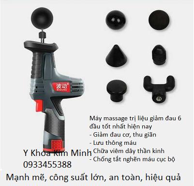 Máy massage trị liệu giảm đau 6 đầu - Y khoa Kim Minh