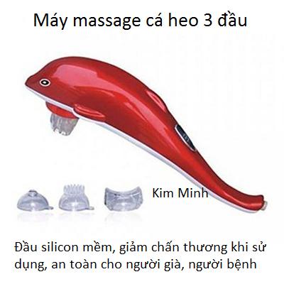 Máy massage cá heo Dolphin 3 đầu mềm silicon loại tốt - Y Khoa Kim Minh