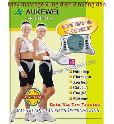 Máy massage xung điện trị liệu 8 miếng dán Aukewel - Y Khoa Kim Minh