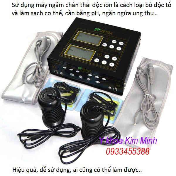 Máy thải độc tố làm sạch cơ thể Body Detox Machine KM-601 - Y Khoa Kim Minh