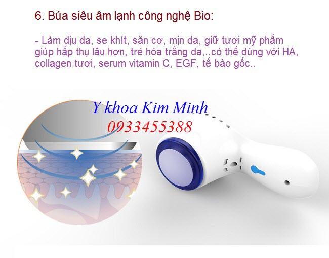 Búa siêu âm lạnh công nghệ Bio của máy oxy jet Rayhero - Y Khoa Kim Minh 0933455388