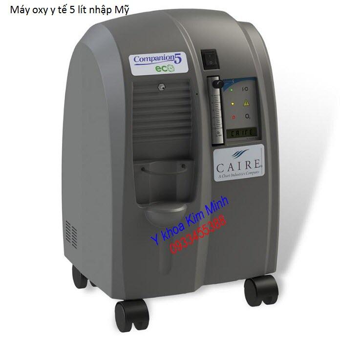 Địa chị Công ty bán máy oxy y tế dùng cho người bệnh nhập mỹ Caire Oxy Campanion 5 lít - Y Khoa Kim Minh