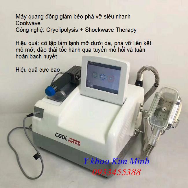 May quang dong pha mo giam beo sieu nhanh Cryolipolysis Shockwave Therapy Coolwave - Y khoa Kim Minh