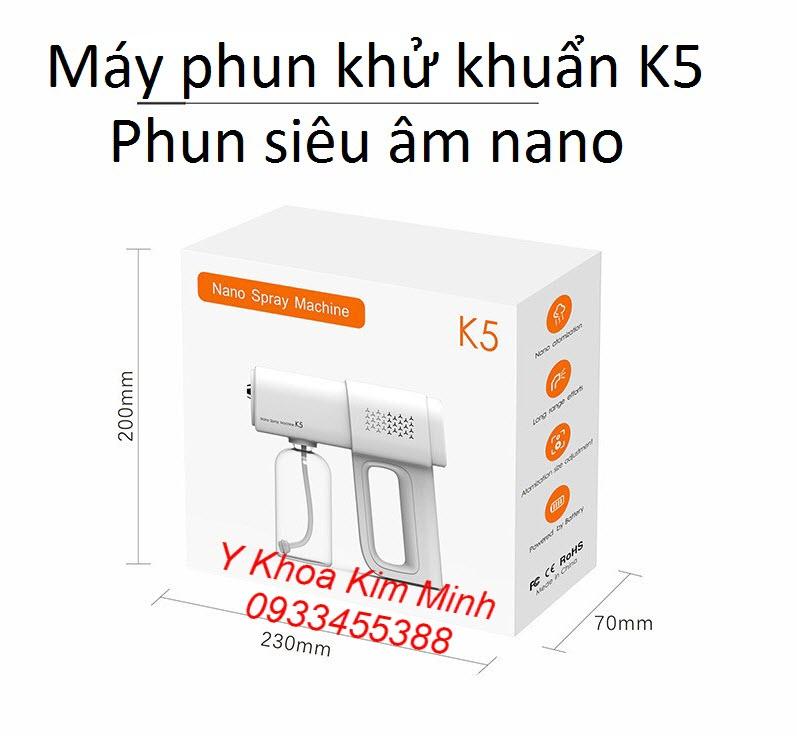 Máy phun khử trùng mini cầm tay K5 bán tại Tp.HCM