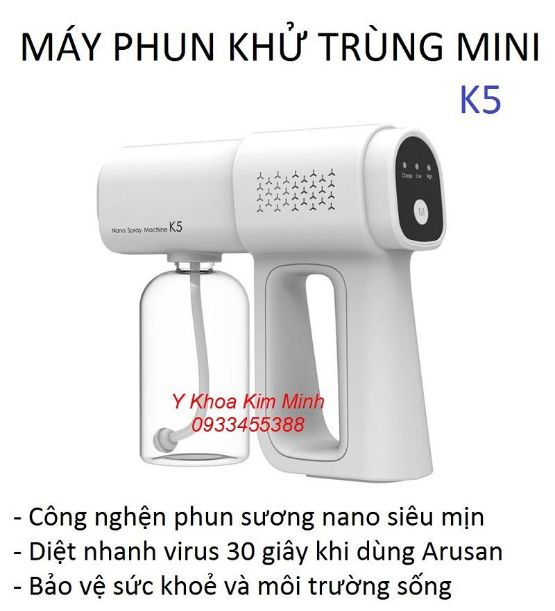Máy phun thuốc khử trùng mini Nano K5 bán tại Tp.HCM