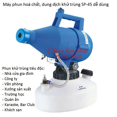 Máy phun thuốc khử trùng diệt khuẩn, phòng dịch bệnh dạng sương 4,5 lít - Y Khoa Kim Minh