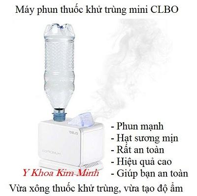 Máy phun thuốc khử trùng, tạo độ ẩm phòng mini CLBO 2 trong 1 - Y khoa Kim Minh